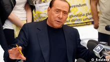 Silvio Berlusconi Referendum Justiz Gerechigkeit Menschenrechte Unterschrift