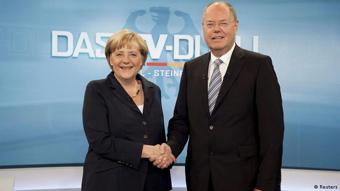 Ангела Меркель и Пер Штайнбрюк