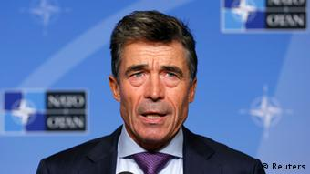 NATO Secretary General Anders Fogh Rasmussen talks to the media during a monthly news conference in Brussels September 2, 2013. Rasmussen said on Monday he had seen evidence about an Aug. 21 attack in Syria that had convinced him that the Syrian authorities were responsible for a chemical weapons strike. REUTERS/Francois Lenoir (BELGIUM - Tags: MILITARY POLITICS)