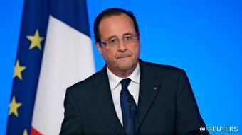 Porträt von Frankreichs Präsident Francois Hollande (Foto: REUTERS/Kenzo Tribouillard)