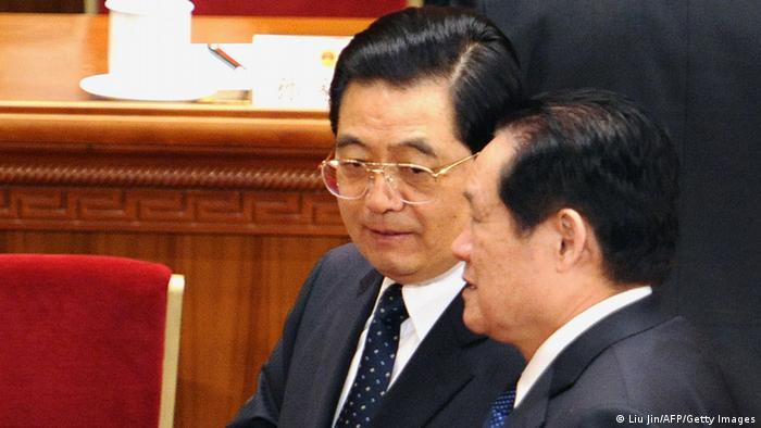 Hu Jintao & Zhou Yongkang ARCHIVBILD 08.03.2010
