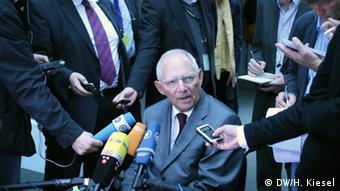 German Finance Minister Wolfgang Schäuble Photo: Heiner Kiesel (DW)