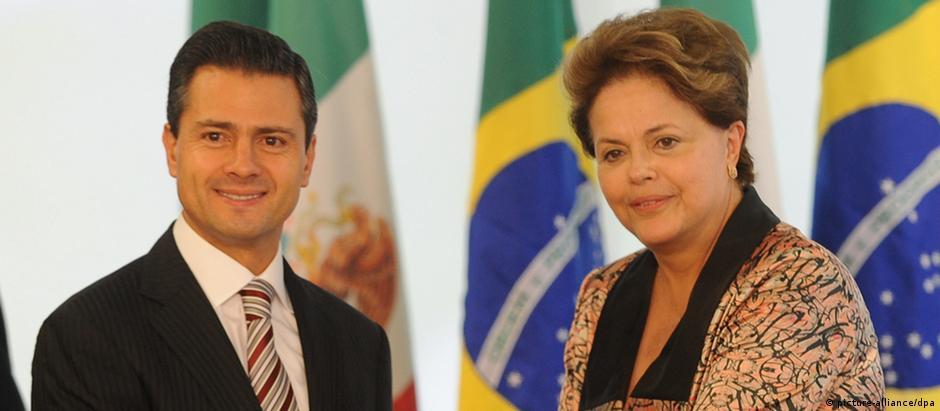 Na época recém-eleito presidente do México, Enrique Peña Nieto visitou o Brasil em setembro de 2012