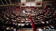 Frankreich Nationalversammlung Sitzung Debatte