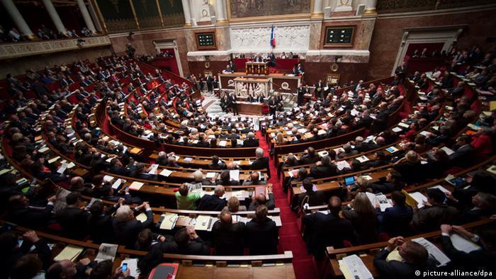 Französische Nationalversammlung (Foto: dpa)