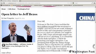 Screenshot Offener Brief Jeff Bezos
