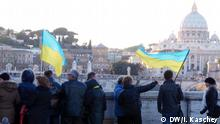 Ukrainische Touristen in Italien
