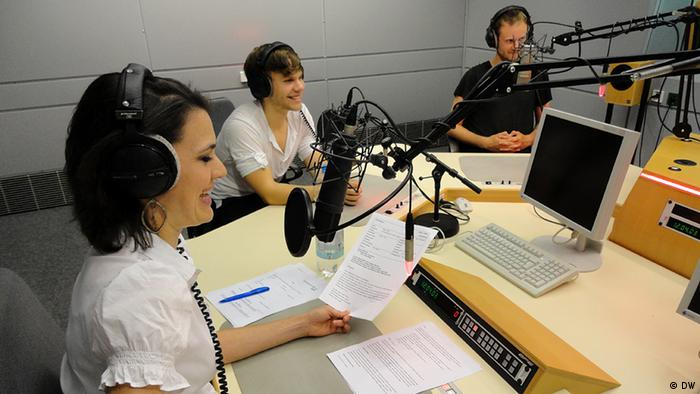 The Secret Sits with Pulse host Kate Müser in DW's radio studio, Copyright: DW