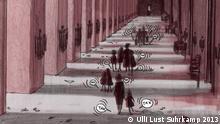 ***Das Pressebild darf nur in Zusammenhang mit einer Berichterstattung über die Ausstellung Comics aus Berlin - Bilder einer Stadt 2013 in Berlin verwendet werden*** Flughunde_Seite_275©Ulli_Lust_Suhrkamp_(2013).jpg