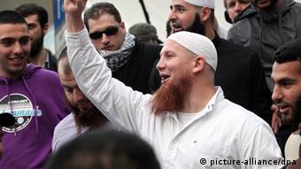 Islamisten-Kundgebung in Hamburg (picture-alliance/dpa)