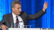 EU-Energiekommissar Günther Oettinger auf der XII. EWI/F.A.Z.-Energietagung am 3.September 2013 im Gürzenich in Köln Autor/ Copyright : DW/Andrey Gurkov