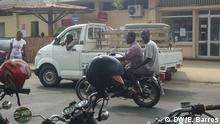 Motorrad-Taxi in São Tomé und Principe