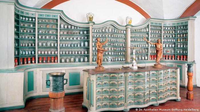 Один из залов Немецкого аптечного музея