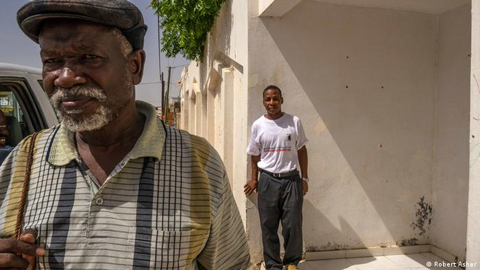 Portrait of Messaoud Boubacar and former slave Matallah