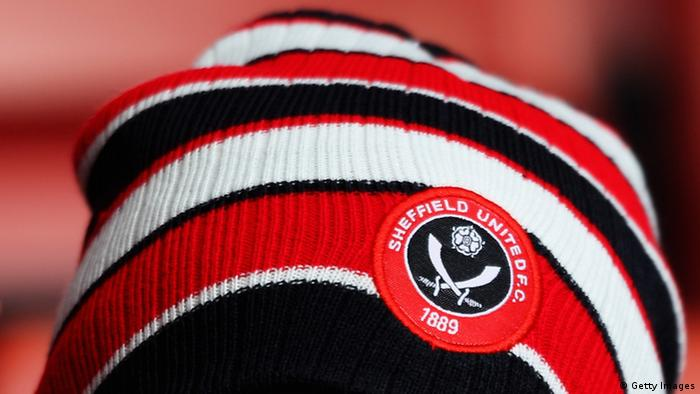 SHEFFIELD, ENGLAND - OCTOBER 16: A Sheffield United fan shows their support during the npower League One match between Sheffield United and Sheffield Wednesday at Bramall Lane on October 16, 2011 in Sheffield, England. (Photo by Dean Mouhtaropoulos/Getty Images)