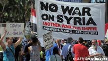 USA Syrien Protest Anti Krieg gegen Krieg Militärschlag