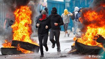 تظاهرات شهروندان شیلی در چهلمین سالروز کودتا در مواردی به خشونت کشیده شد