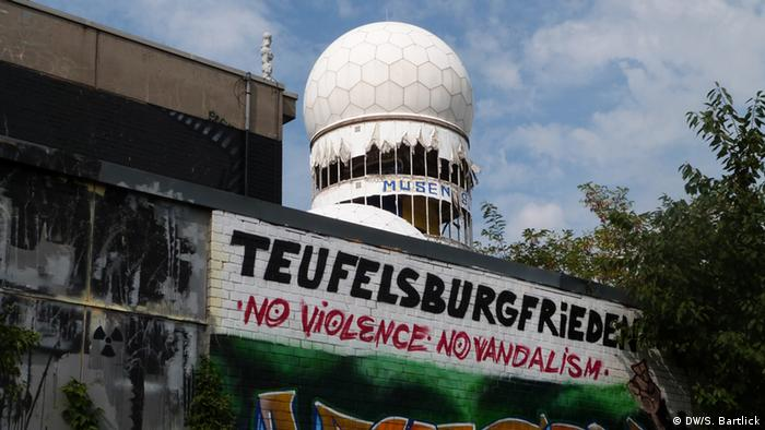 Radar tower on Teufelsberg (Photo: Silke Bartlick, Deutsche Welle)