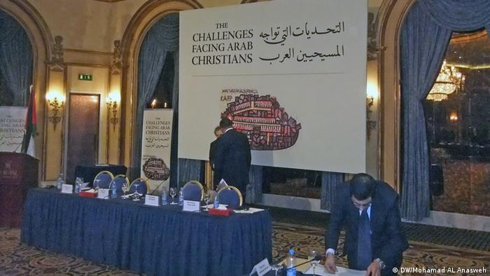 image: 4 Main title : Christians in the Middle East Photo title: conference about Arab Christians Place and date: Amman, 4 – 9 – 2013 Copy right/photographer: Mohamad AL Anasweh - DW