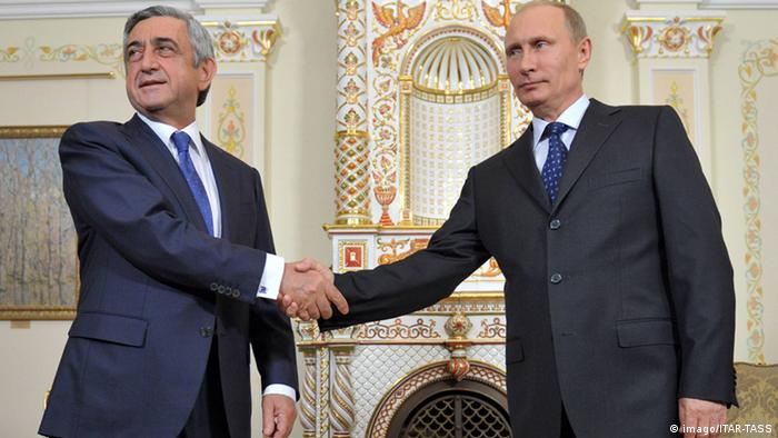 Russlands Präsident Wladimir Putin und Armeniens Präsident Sargsjan
