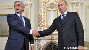 Президент Армении Серж Саргсян с Владимиром Путиным