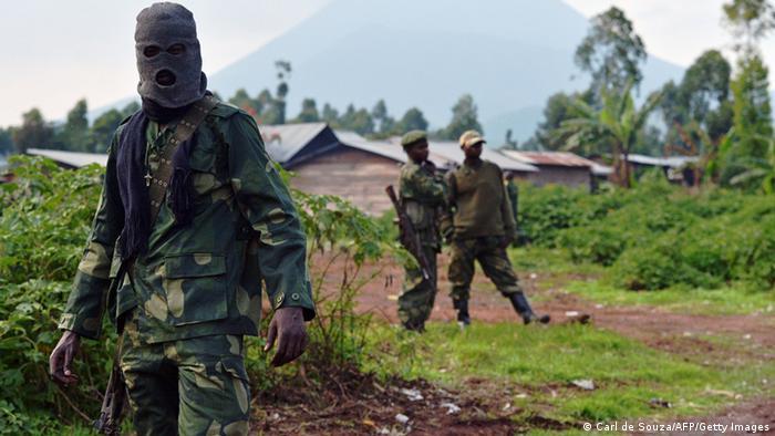 Democratic Republic of Congo (FARDC) soldiers are pictured near Kibati, near Goma on September 4, 2013. (photo via AFP)