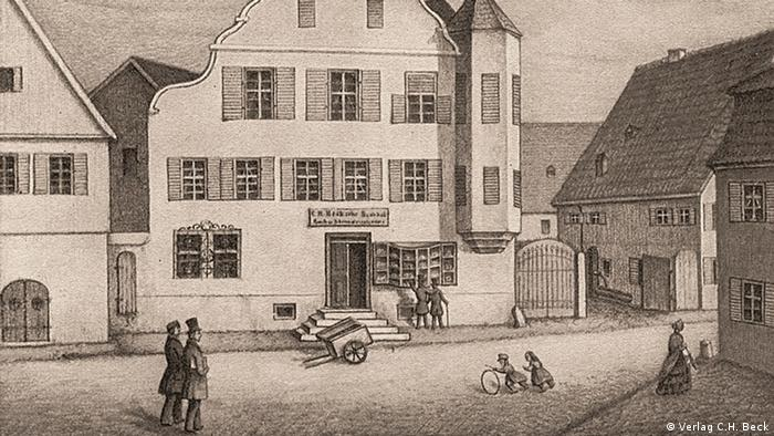 Historical image of the C.H. Beck publishing house in Munich, Copyright: Verlag C.H. Beck