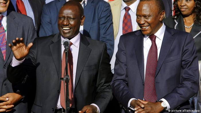 Kenyan President Uhuru Kenyatta and his deputy William Ruto Photo:DANIEL IRUNGU (EPA)