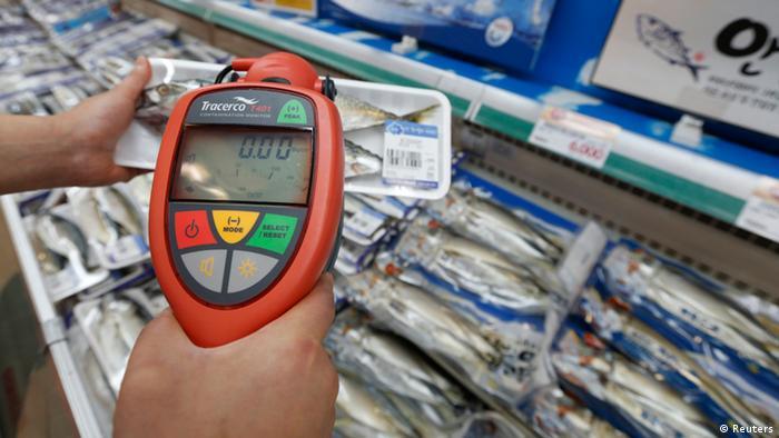 Südkorea Seoul Fischmarkt Test Strahlenbelastung
