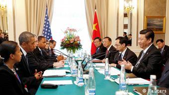 G20 Sankt Petersburg Barack Obama und Xi Jinping