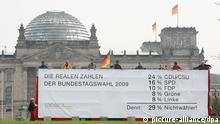 Non-Voters demonstrating in front of the Bundestag