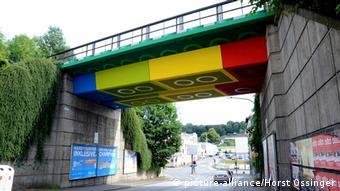 Deutschland Architektur Brücke Lego-Brücke in Wuppertal
