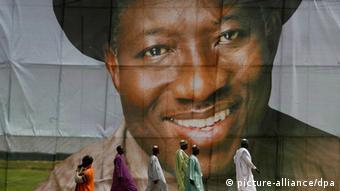 Izborni plakat nigerijskog predsjednika Goodlucka Jonathana iz 2011.