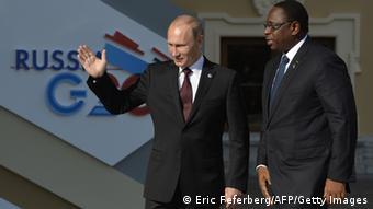 G20 Gipfel Russland Sankt Petersburg Wladimir Putin und Macky Sall