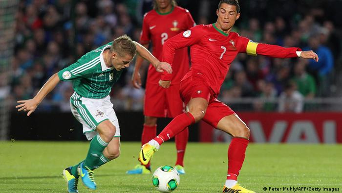 Cristiano Ronaldo im WM-Qualifikationsspiel Nordirland gegen Portugal (Foto: PETER MUHLY/AFP/Getty Images)