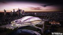 Modellgrafik des Olympiastadions in Tokyo - Pressebilder von der offiziellen Internetseite tokyo2020.jp