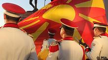 Mazedonien Mazedonier Menschen Skopje Mazedonische Garde Madezonische Flagge