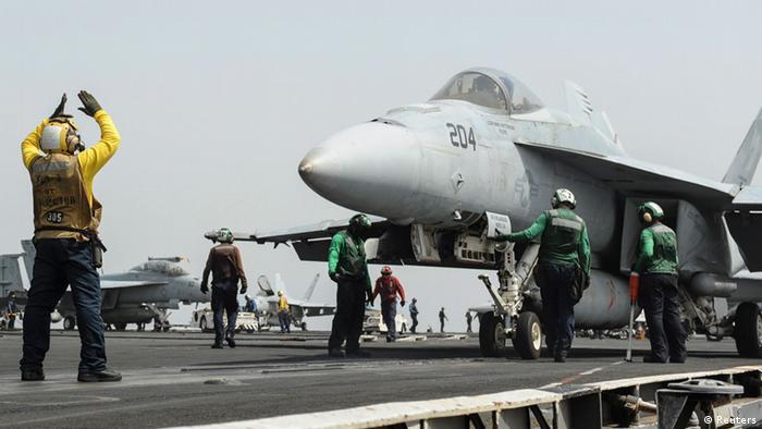 US aircraft carrier Nimitz (Reuters)
