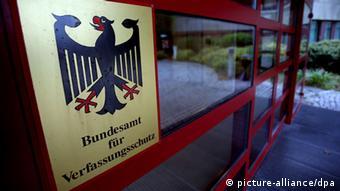 Eingang des Bundesamtes für Verfassungsschutz in Köln (Foto: dpa)