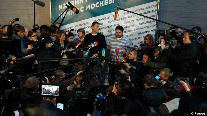 Alexei Navalnîi - conferinţă de presă după alegeri