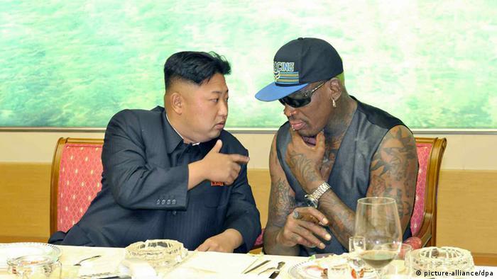 Kim Jong-un e Dennis Rodman em Pyongyang