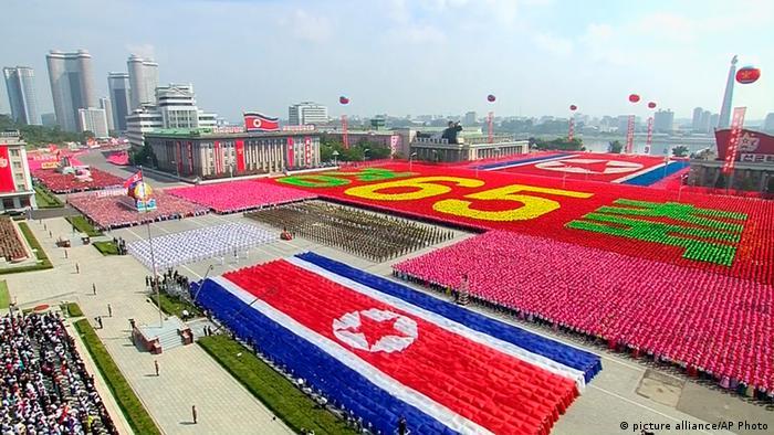 Militärparade in Pjöngjang 09.09.2013 (picture alliance/AP Photo)