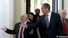 Lawrow und Moualem in Moskau 09.09.2013