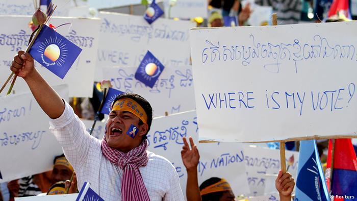 Kambodscha Wahlen Proteste Opposition 07.09.2013