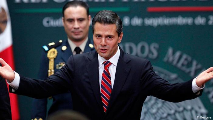 Mexiko Präsident Enrique Pena Nieto