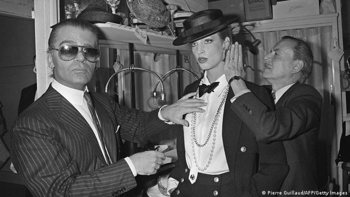 Lagerfeld in Paris in 1983 (Pierre Guillaud/AFP/Getty Images)