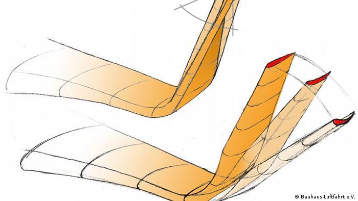 Flugzeuge der Zukunft: Klappbare Flügelspitzen