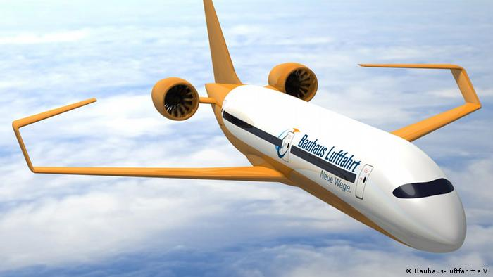 The aircraft of the future, the Ce liner with electric engines and c-shaped wings