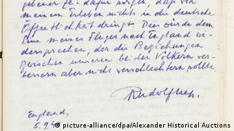 Rudolf Heß Dokumente Auktion