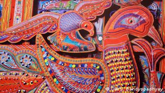 Indien Ausstelung Kunst auf LKWs in Kalkutta